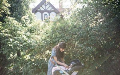God plads til barnevognen i haven